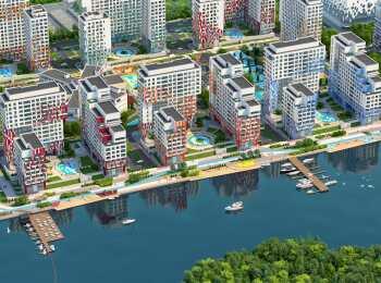 Панорама корпусов ЖК River Park